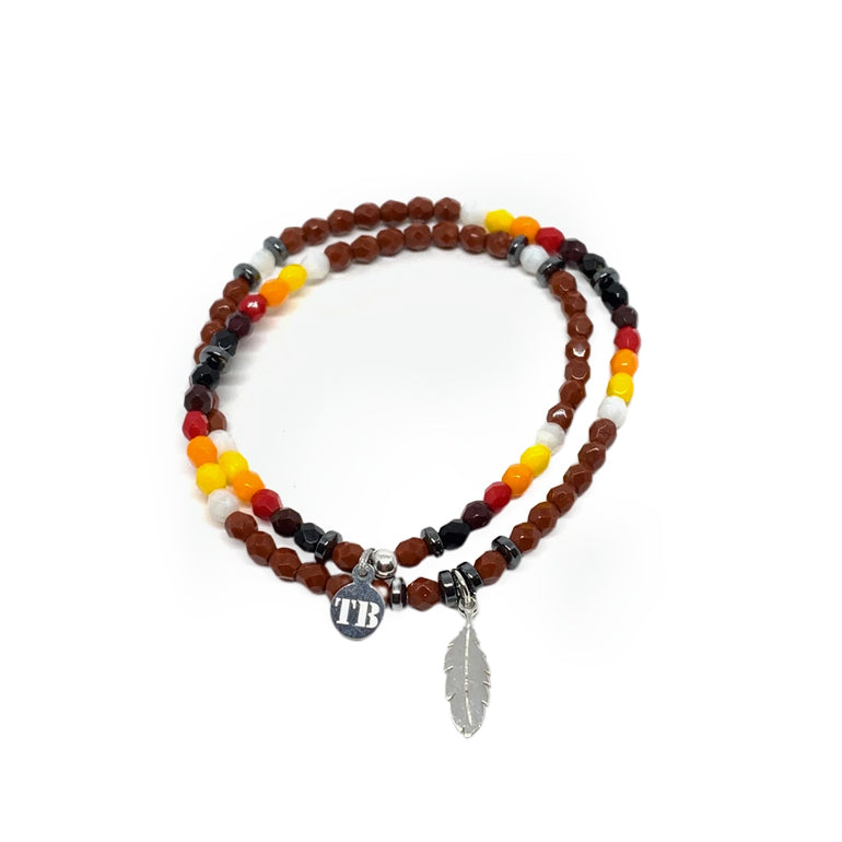 BRACELET COBRA MARRON-TETES BLONDES-Maralex Paris