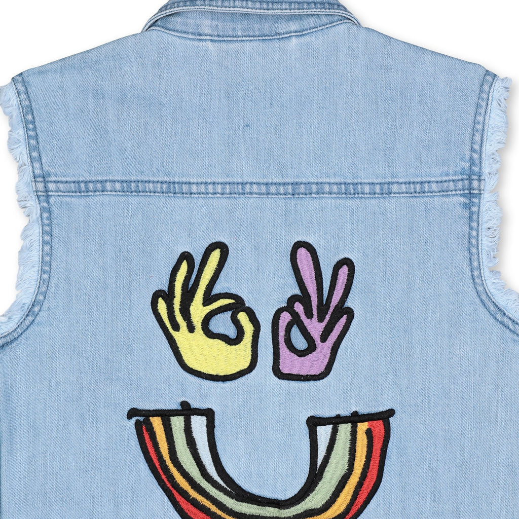 Veste en Jean Rainbow-STELLA MCCARTNEY KIDS-Maralex Paris