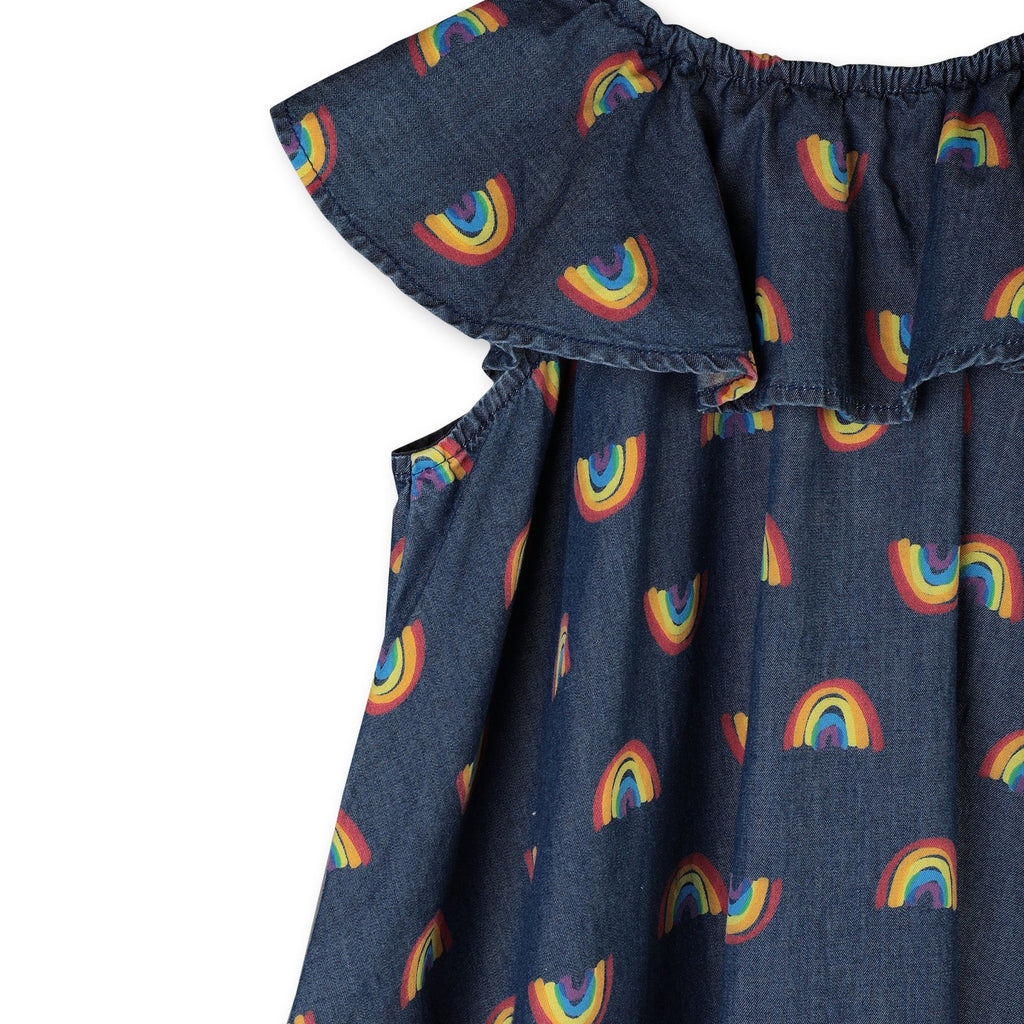 RAINBOW CHAMBRAY DRESS