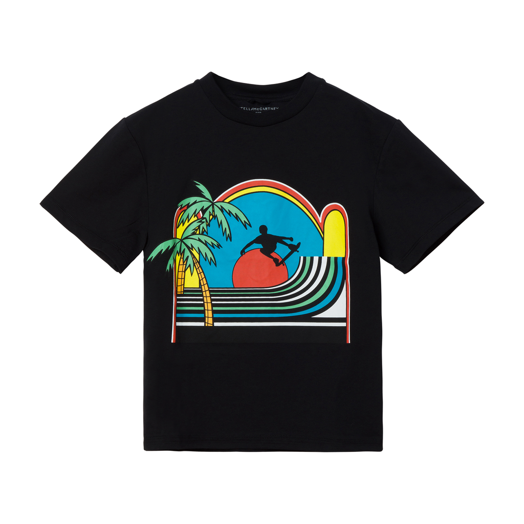T-shirt Sunset Skater (4955633942591)