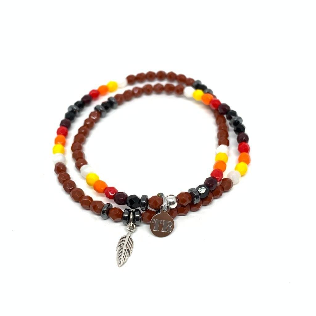 Bracelet Pow Wow Marron