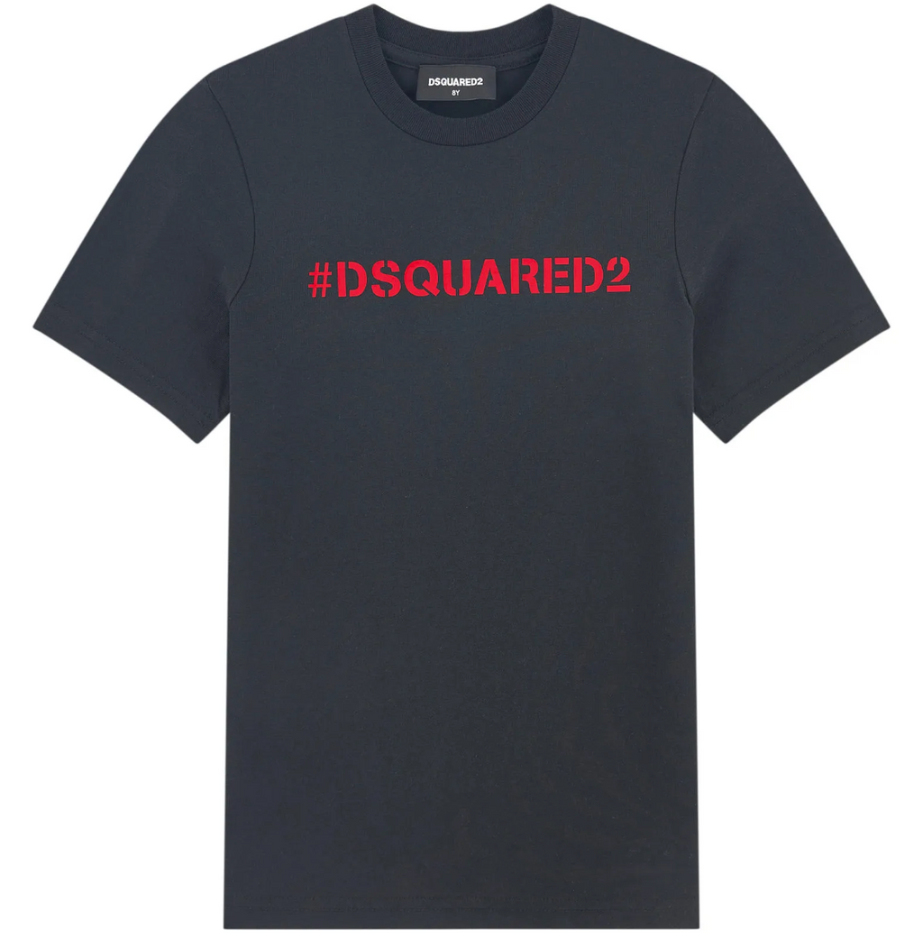 Dsquared2 Black Tee 2-DSQUARED2-Maralex Paris (4435764903999)