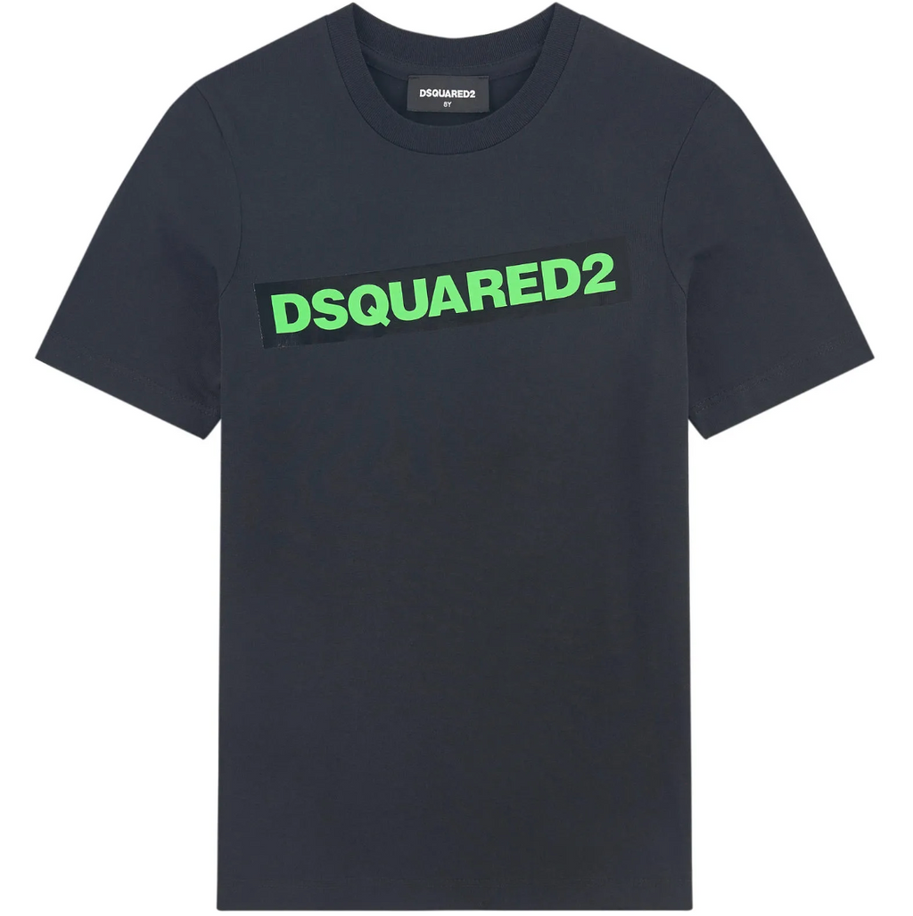 DSQUARED2 BLACK TEE-DSQUARED2-Maralex Paris (4435764740159)