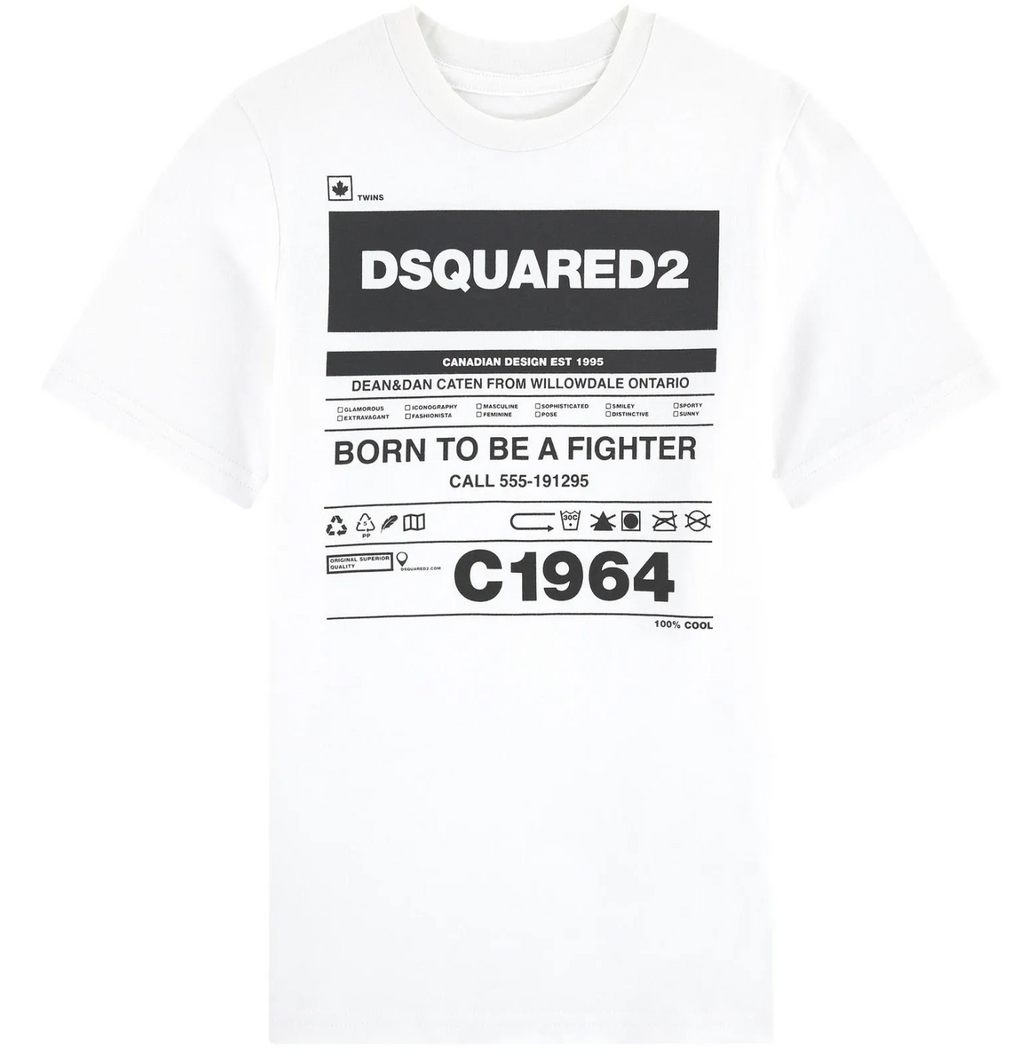 T-shirt Fighter-DSQUARED2-Maralex Paris (4446371676223)