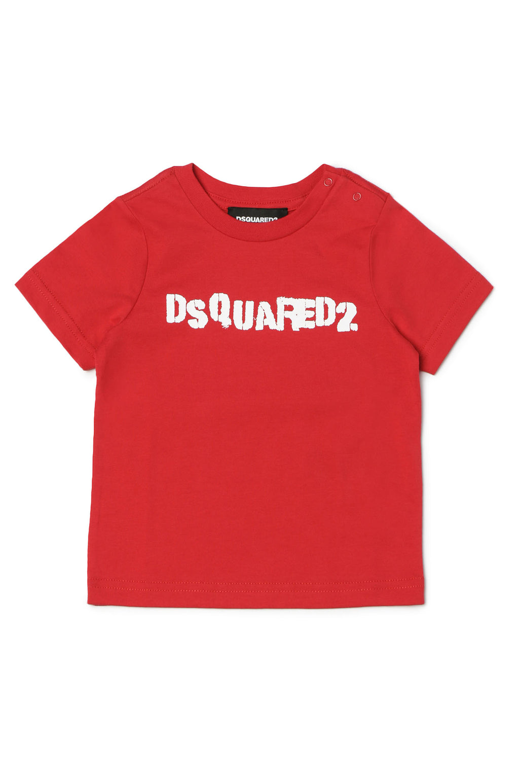 Dsquared2 Red Tee-DSQUARED2-Maralex Paris (4432207380543)