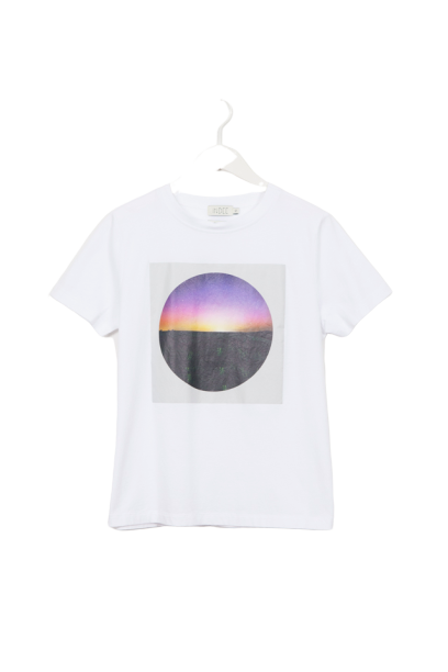 T-SHIRT GABY BOREAL PRINT WHITE-INDEE-Maralex Paris