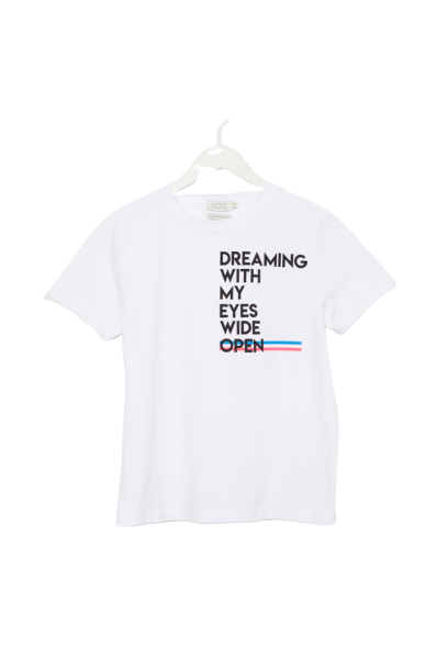 T-SHIRT GABY DREAMING PRINT WHITE-INDEE-Maralex Paris