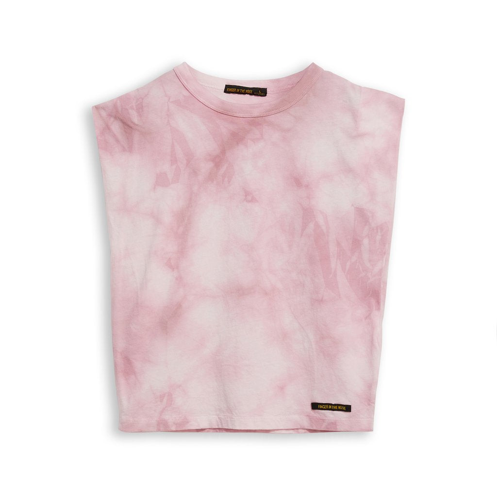 Haley Pale Pink Tie & Dye Top