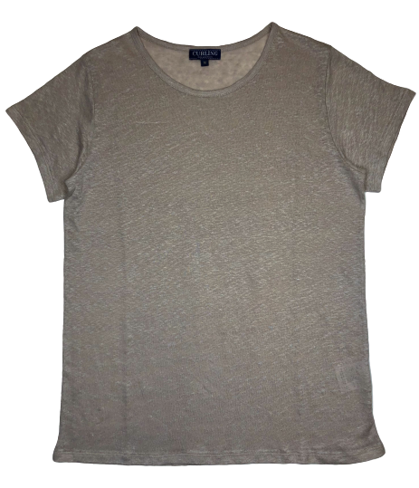 T-Shirt Col Rond Beige