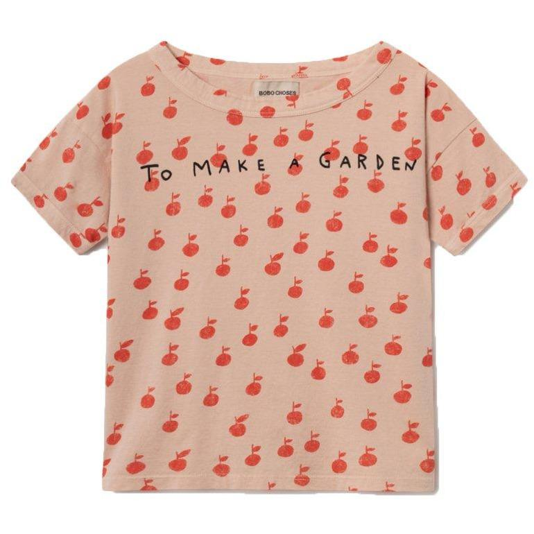 Apple Short Sleeve T-shirt-Fille-BOBO CHOSES-Maralex Paris (1976237391935)