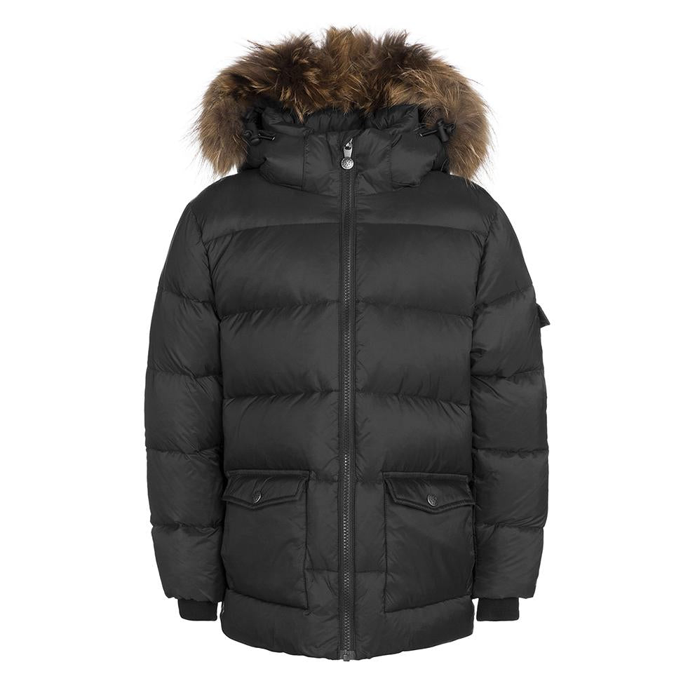 AUTHENTIC JACKET MAT BLACK-VESTES & MANTEAUX-PYRENEX-Maralex Paris
