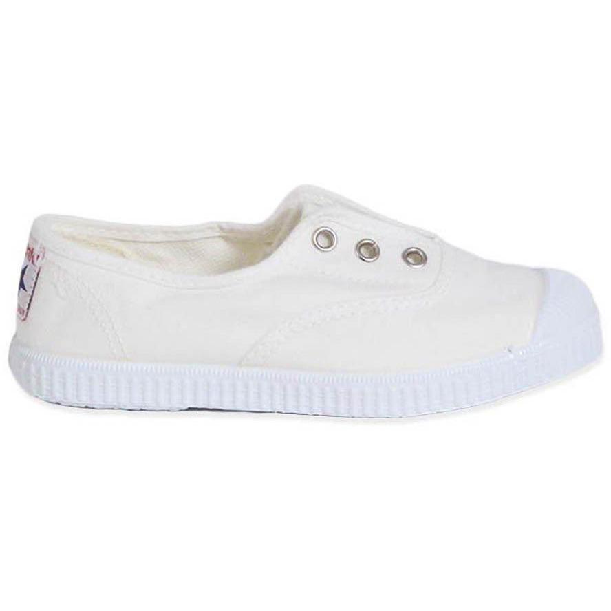 Baskets Elastique Blanc-Fille-CIENTA-Maralex Paris