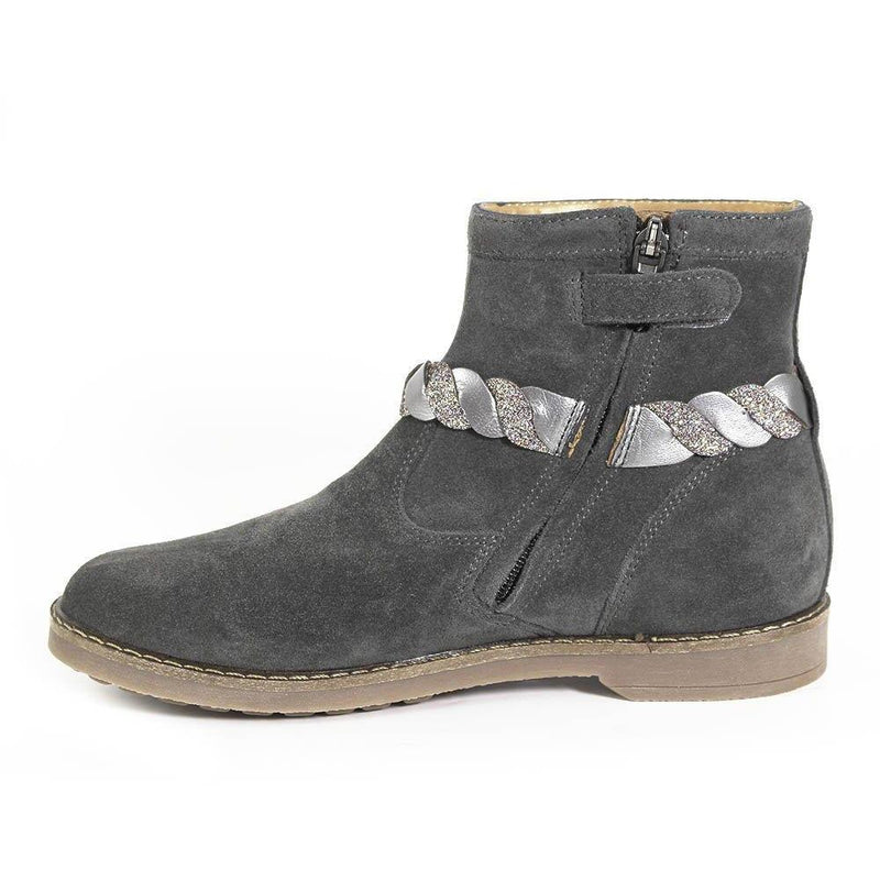 Bottines Trip Twist Gris-Fille-POM D'API-Maralex Paris