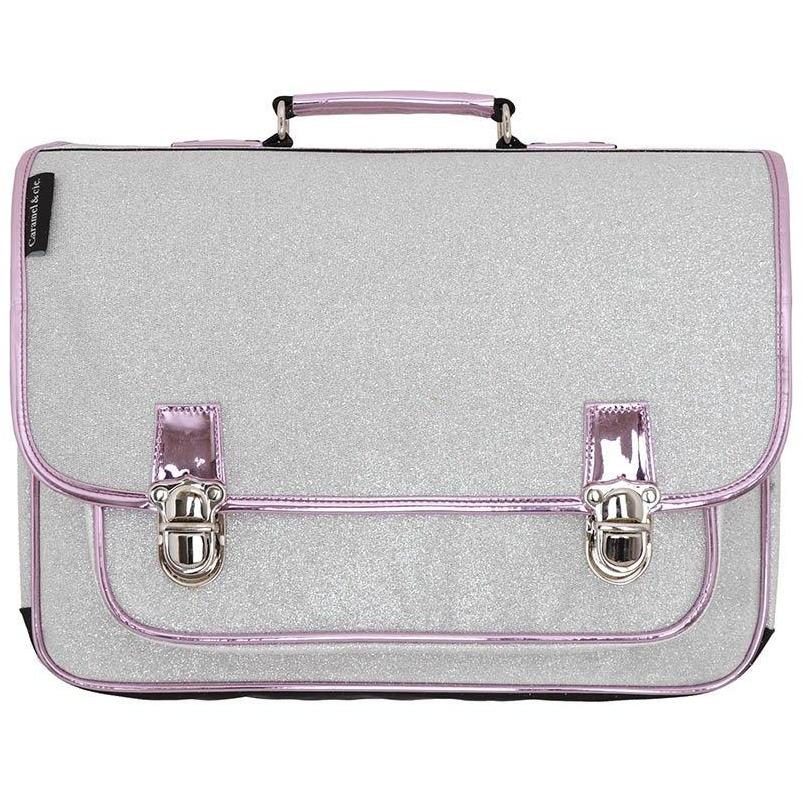 Cartable Large Argent-Fille-CARAMEL AND CIE-Maralex Paris