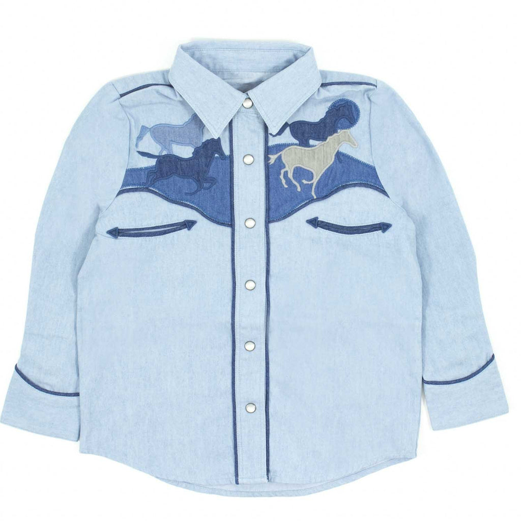 Chemise dallas horses-Fille-STELLA MCCARTNEY KIDS-Maralex Paris
