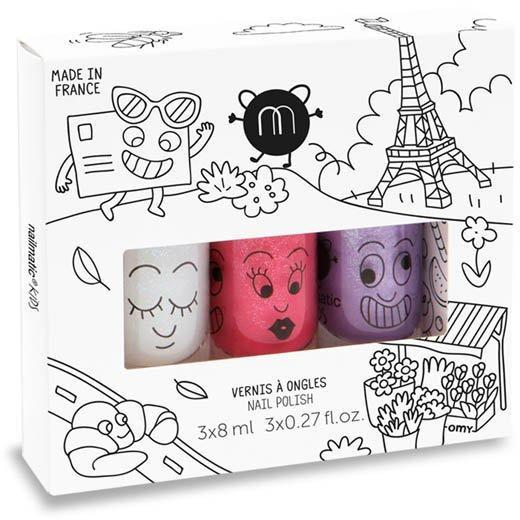 Coffret 3 Vernis à l'Eau City-Fille-NAILMATIC-Maralex Paris