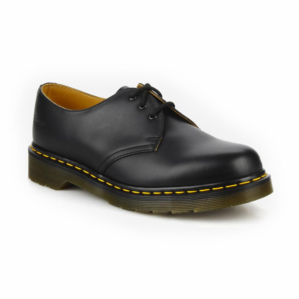 DERBIES BLACK SMOOTH-BOTTINES & BOOTS-DR MARTENS-Maralex Paris (4175886778431)