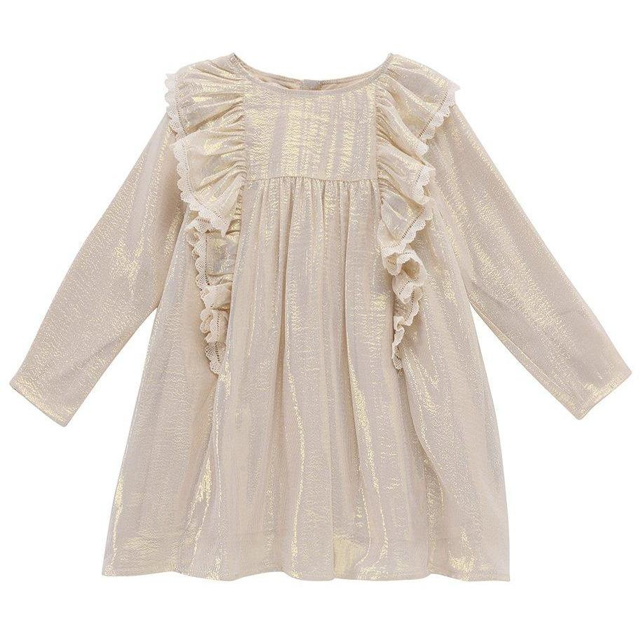 Dress Gozba Gold Silk-Fille-LOUISE MISHA-Maralex Paris (1976127651903)
