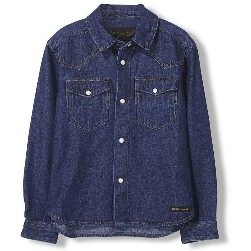 Dusk Blue Denim-Fille-FINGER IN THE NOSE-Maralex Paris