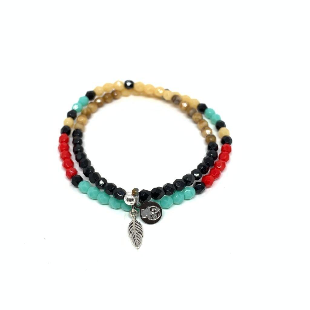 Bracelet Pow Wow Multicolore-TETES BLONDES-Maralex Paris
