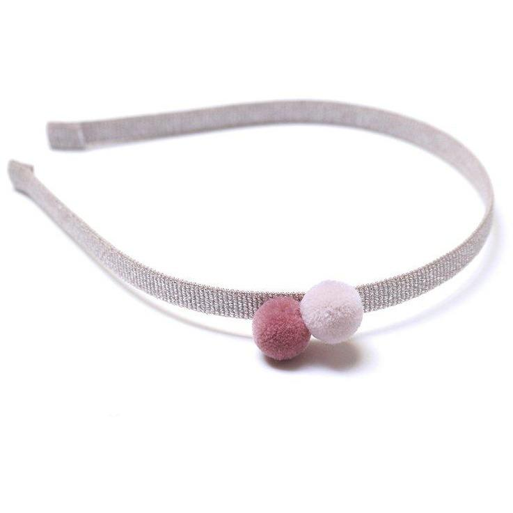 Headband 2 Poms Cotton Candy-Fille-FIVE ELEVEN-Maralex Paris