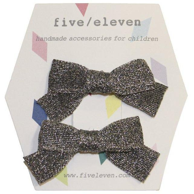 Japonese Bows Black Silver-Fille-FIVE ELEVEN-Maralex Paris