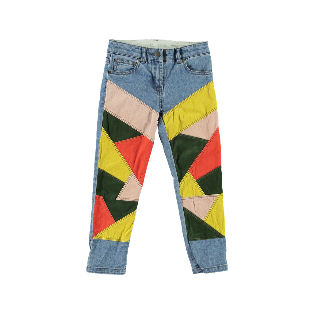 Jeans Patch Multicolor-A trier FASTMAG-STELLA MCCARTNEY KIDS-Maralex Paris