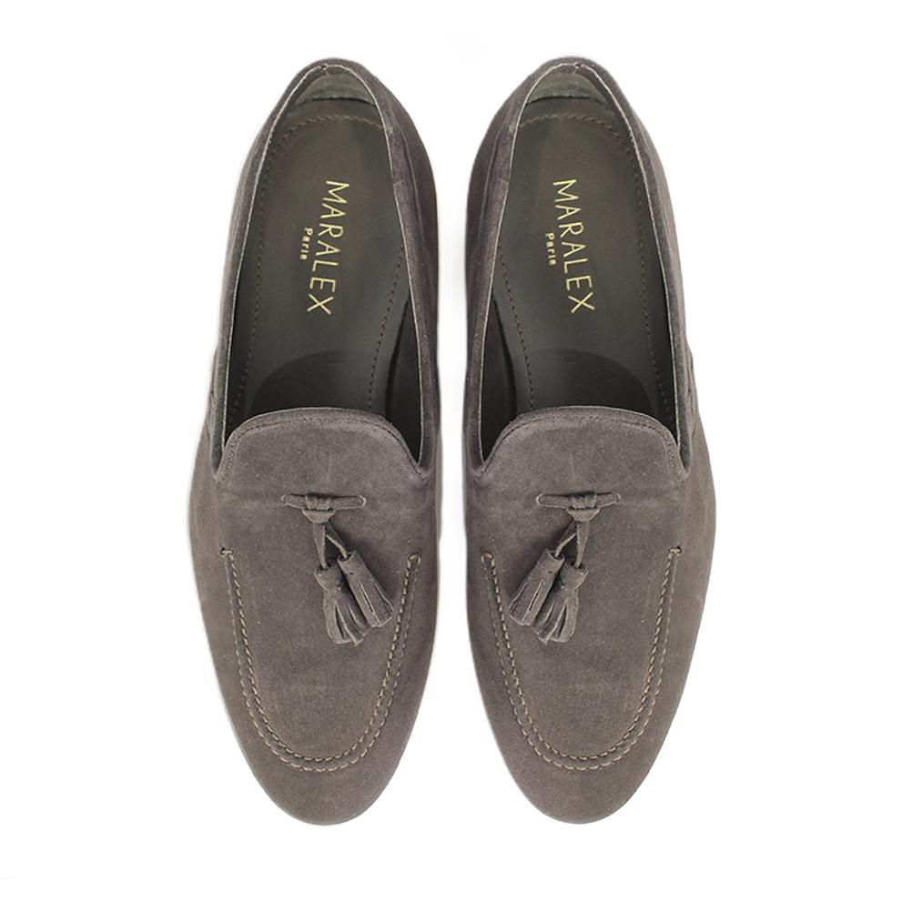 Mocassins Pompon Brown-MOCASSINS & BATEAUX-MARALEX-Maralex Paris (4282860929087)