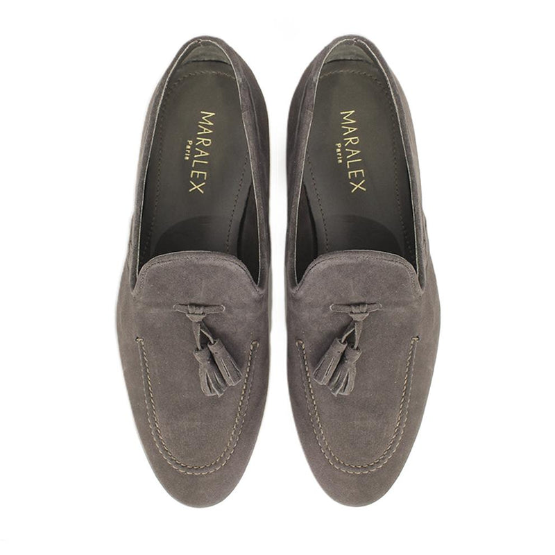 Mocassins Pompon Brown-MOCASSINS & BATEAUX-MARALEX-Maralex Paris