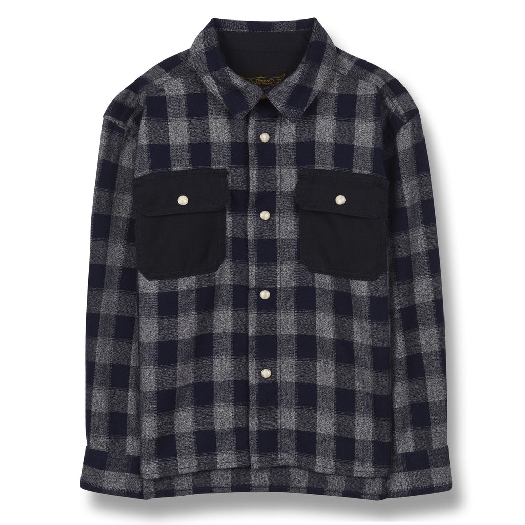 NEW DUSK SAILOR BLUE CHECKER-CHEMISES & POLOS-FINGER IN THE NOSE-Maralex Paris