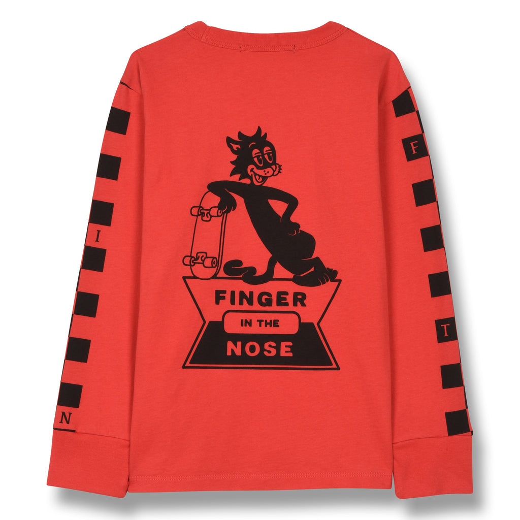 NICO RED SKATE CAT-TOPS & T-SHIRTS-FINGER IN THE NOSE-Maralex Paris