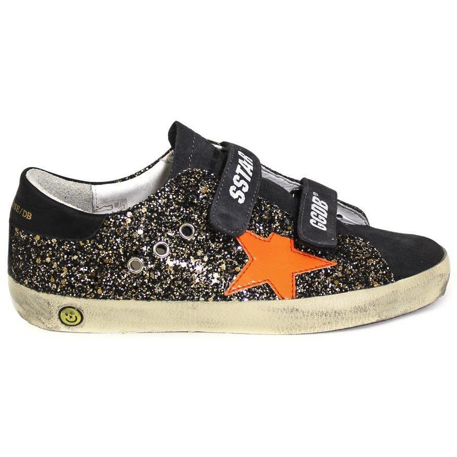 Old School Black Gold Glitter-Fille-GOLDEN GOOSE-Maralex Paris