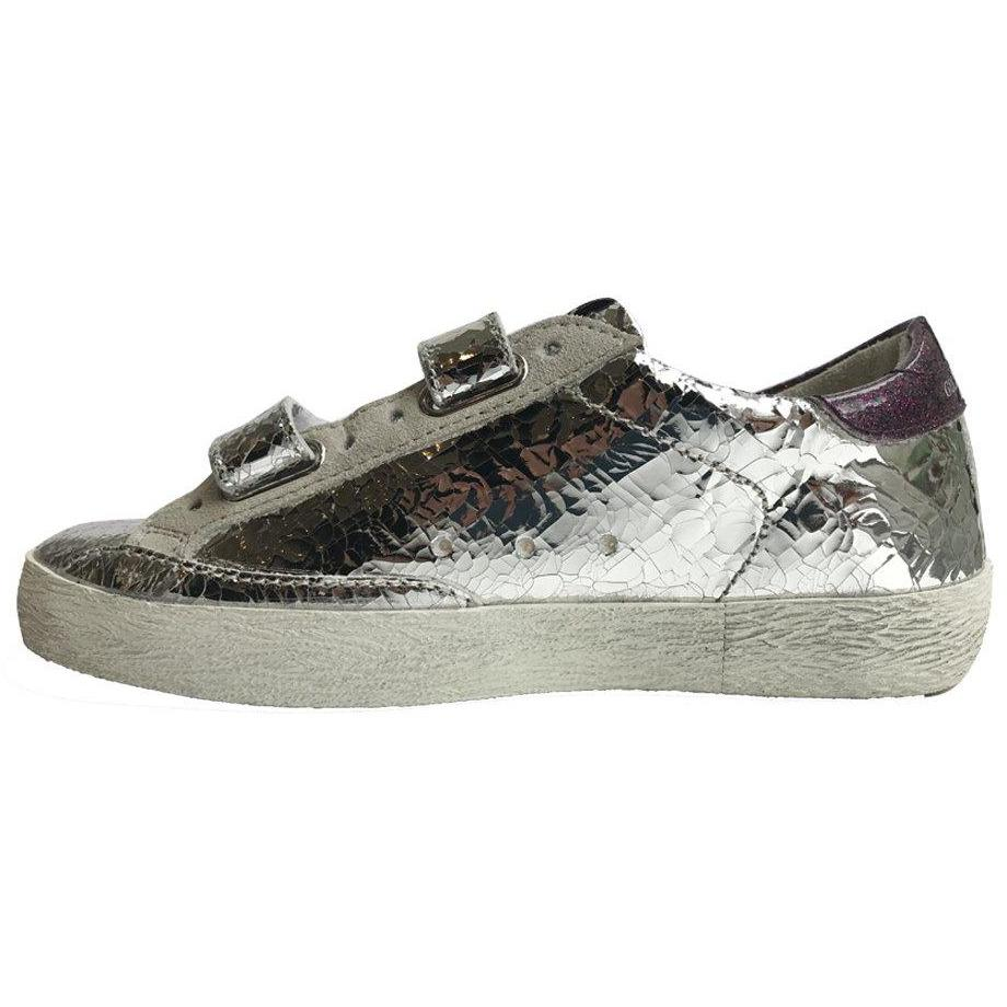 Old School Silver Sneakers-Fille-GOLDEN GOOSE-Maralex Paris