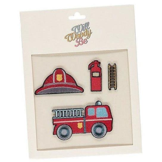 Patches Set Fireman-Fille-WILL WOODY BE-Maralex Paris