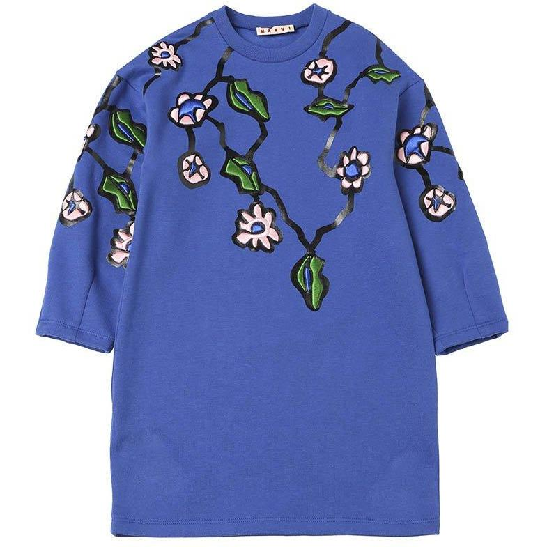 Robe Abito Flower Blue-Fille-MARNI-Maralex Paris