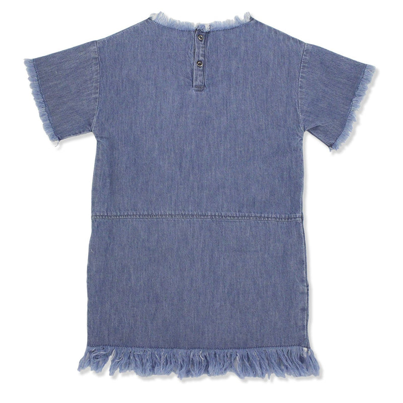 Robe Bubble Blue Denim-Fille-FINGER IN THE NOSE-Maralex Paris (1975849222207)
