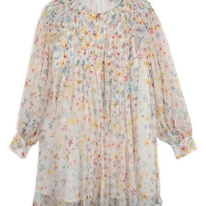 Robe Splash Flowers Manches Longues