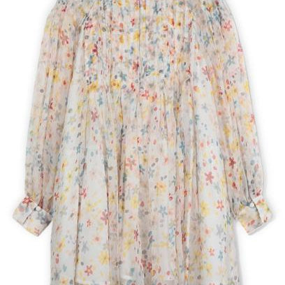 Robe Splash Flowers Manches Longues-STELLA MCCARTNEY KIDS-Maralex Paris