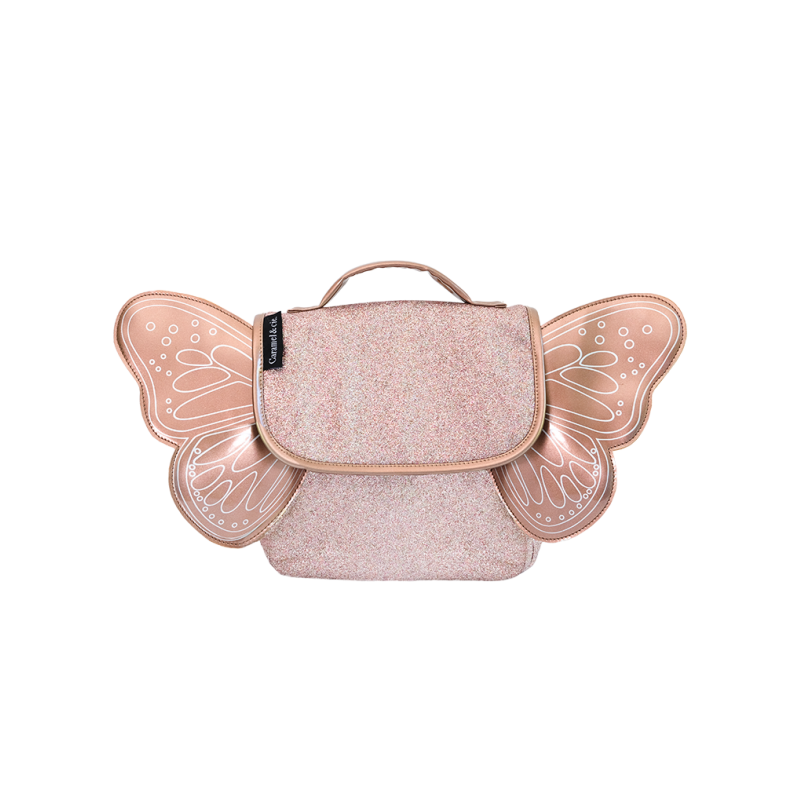 SAC PAPILLON PAILLETTE CUIVRE-CARAMEL AND CIE-Maralex Paris