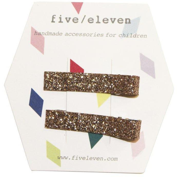 Set 2 Barrettes Glitter Champ-Fille-FIVE ELEVEN-Maralex Paris