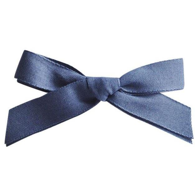 Single Bow Hair Slide Denim-Fille-FIVE ELEVEN-Maralex Paris