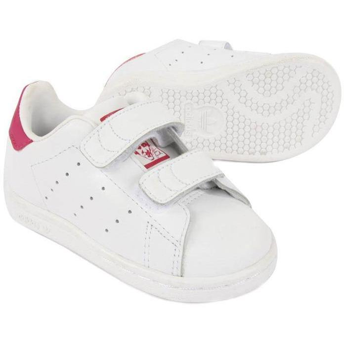 Stan Smith Velcros Rose (BB & kids)-BASKETS & SNEAKERS-ADIDAS-Maralex Paris