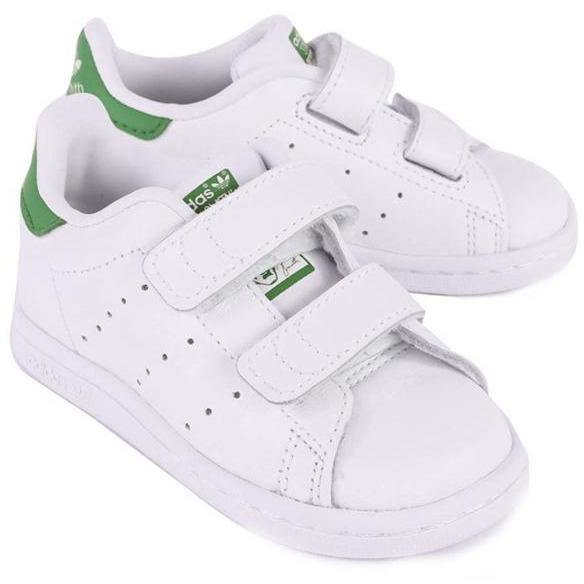 Stan Smith Velcros Vert (BB & Kids)-BASKETS & SNEAKERS-ADIDAS-Maralex Paris (3568131539007)
