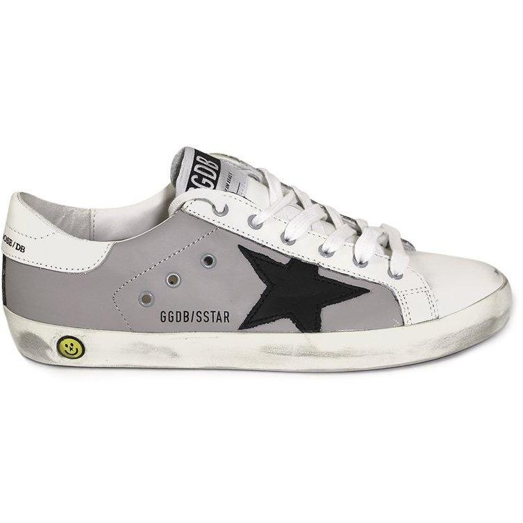 Superstar Grey Leather-Bébé fille-GOLDEN GOOSE-Maralex Paris