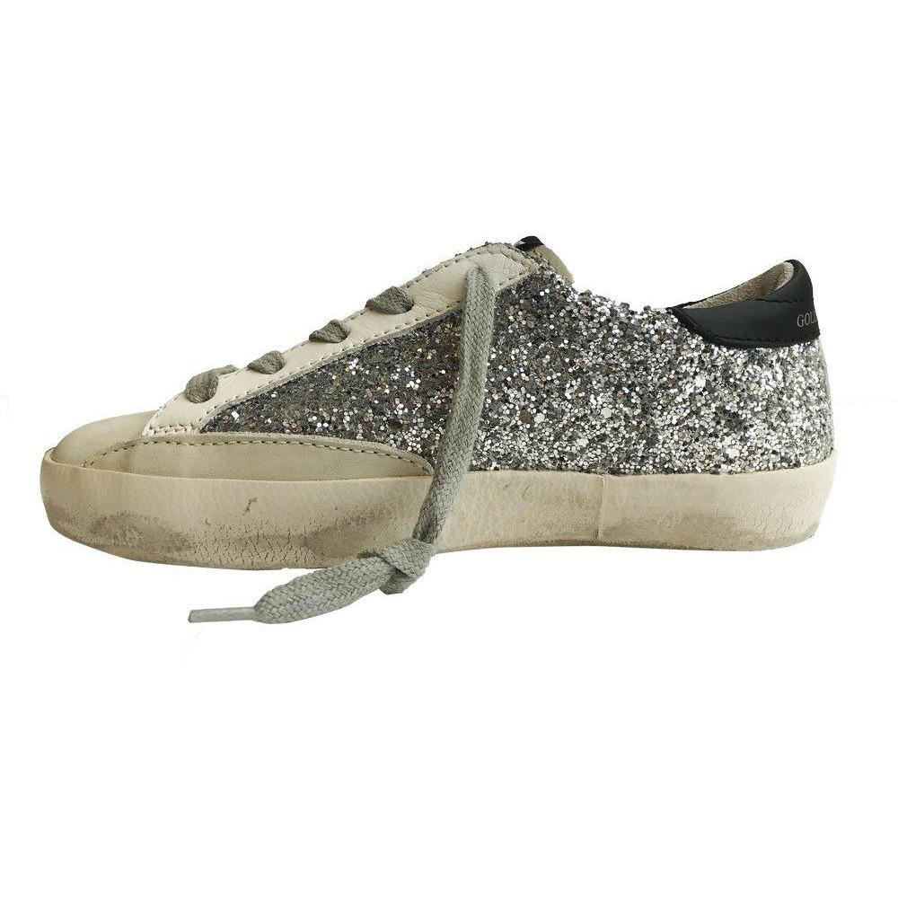 Superstar Silver Glitter-Bébé fille-GOLDEN GOOSE-Maralex Paris