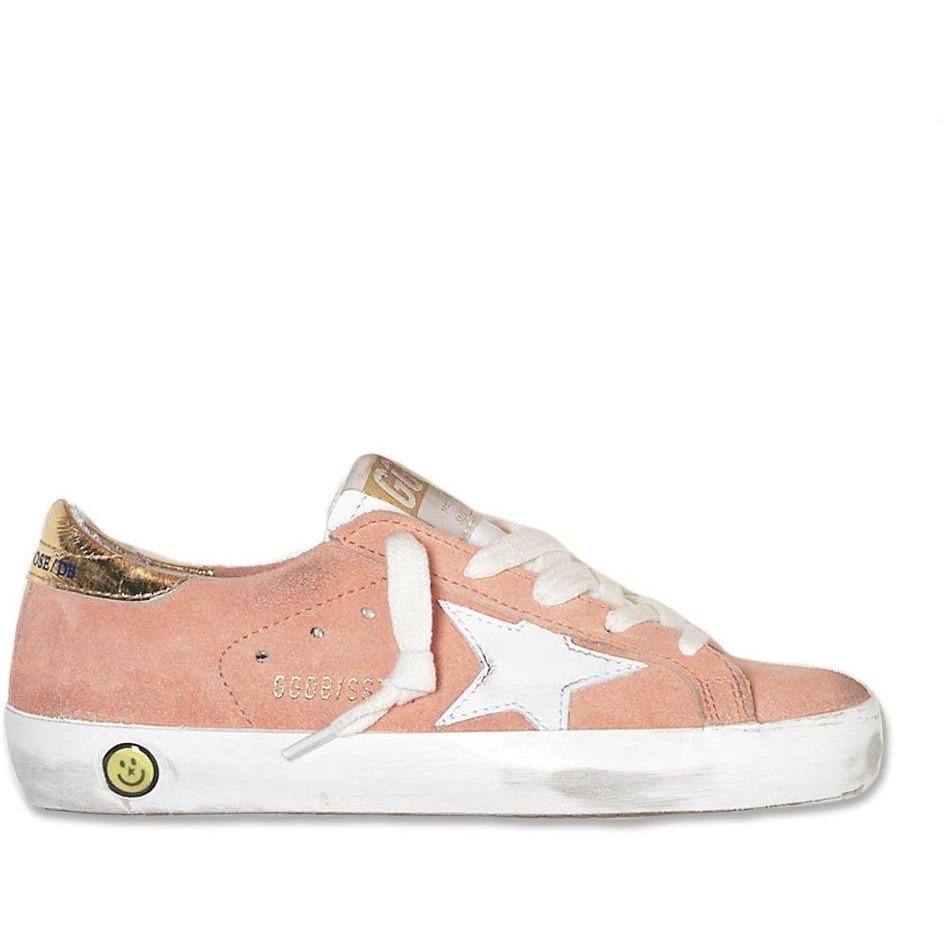 Supertar Peach Suede Cream-Fille-GOLDEN GOOSE-Maralex Paris