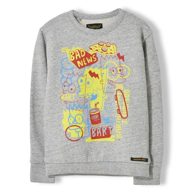 Sweatshirt Brian Heather Cloud-Garçon-FINGER IN THE NOSE-Maralex Paris (1975997366335)