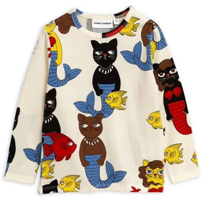 T-shirt Cat Mermaid-Fille-MINI RODINI-Maralex Paris