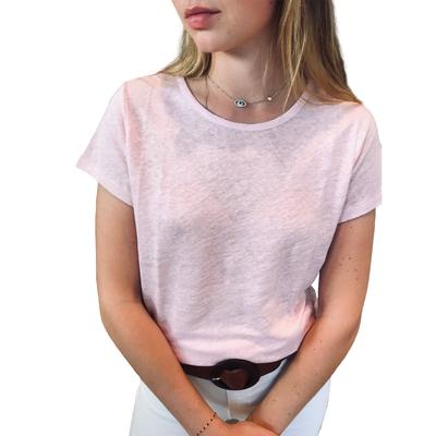 T-Shirt Col Rond Rose