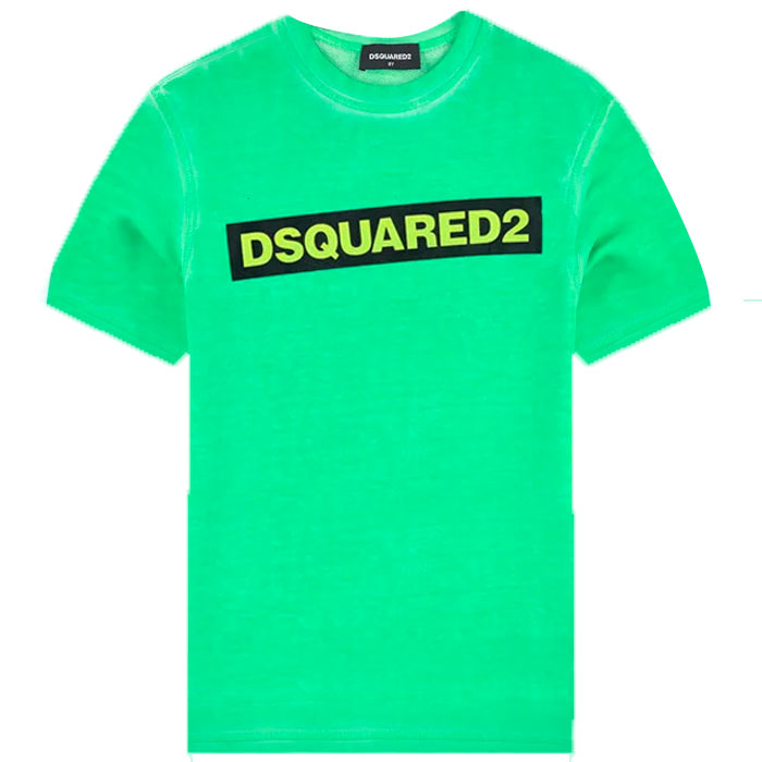Dsquared2 Green Tee-DSQUARED2-Maralex Paris (4432207249471)